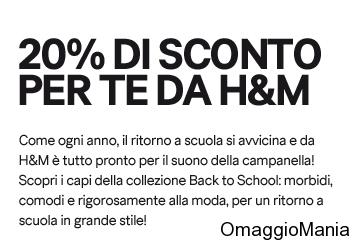 buono sconto H&M 20%