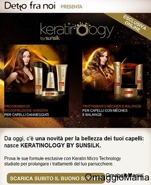 buono sconto Keratinology Sunsilk