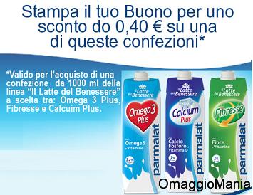 buono sconto Latte del Benessere Parmalat