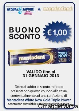 buono sconto Mentadent 1 euro DettoFraNoi