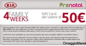 gift card Prénatal gratis con Kia