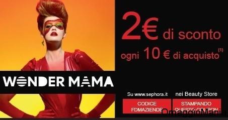 buono sconto Sephora 2 euro ogni 10 di acquisto
