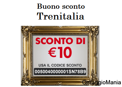 buono sconto Trenitalia 10 euro