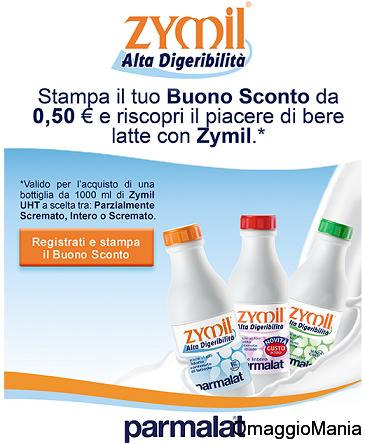 buono sconto Zymil Alta Digeribilità Parmalat