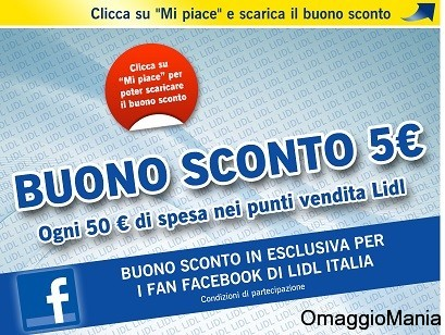 buono sconto lidl italia con 50 euro spesa