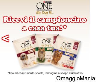 campione omaggio cibo per cani Purina One My Dog is