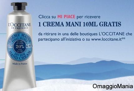 campione omaggio crema mani L'Occitane 2013