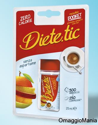 campione omaggio dolcificante liquido Dietetic