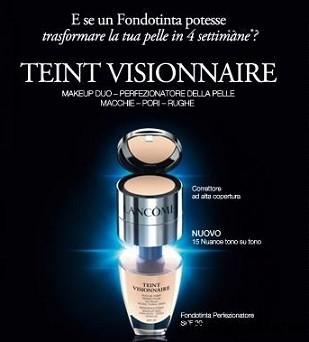 campione omaggio fondotinta Lancôme Teint Visionnaire