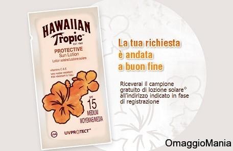 campione omaggio lozione solare hawaiian tropic ok