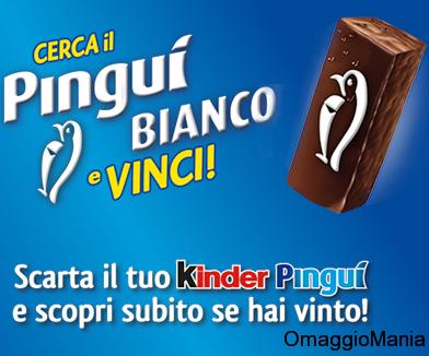 """concorso Kinder Pinguì """"Cerca il Pinguì Bianco e vinci"""""""