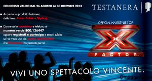 concorso a premi Testanera per vincere biglietti per la finale di X Factor