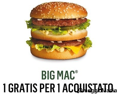 coupon 2x1 BigMac McDonald's