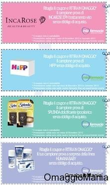 coupon omaggio campioni gratuiti MiaFarmacia Dicembre 2012 Gennaio 2013