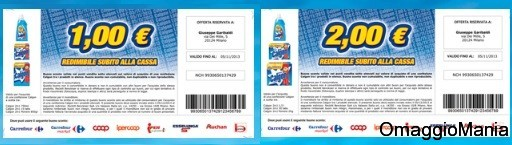 coupon detersivi lavatrice