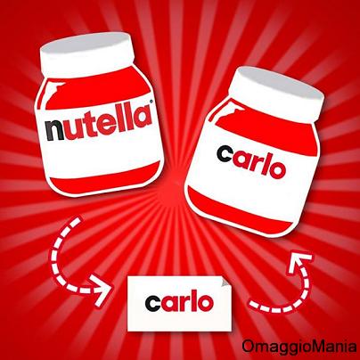 etichetta Nutella personalizzata