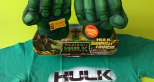 maglietta e guantoni di Hulk